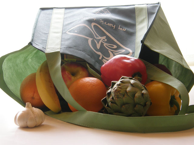 reusable grocery bags used at Big Mill coastal inn