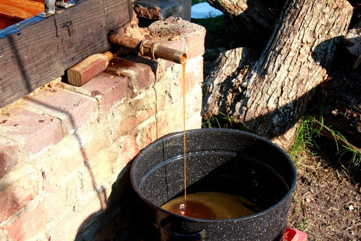 Making Molasses in eastern NC near the farm at Big Mill