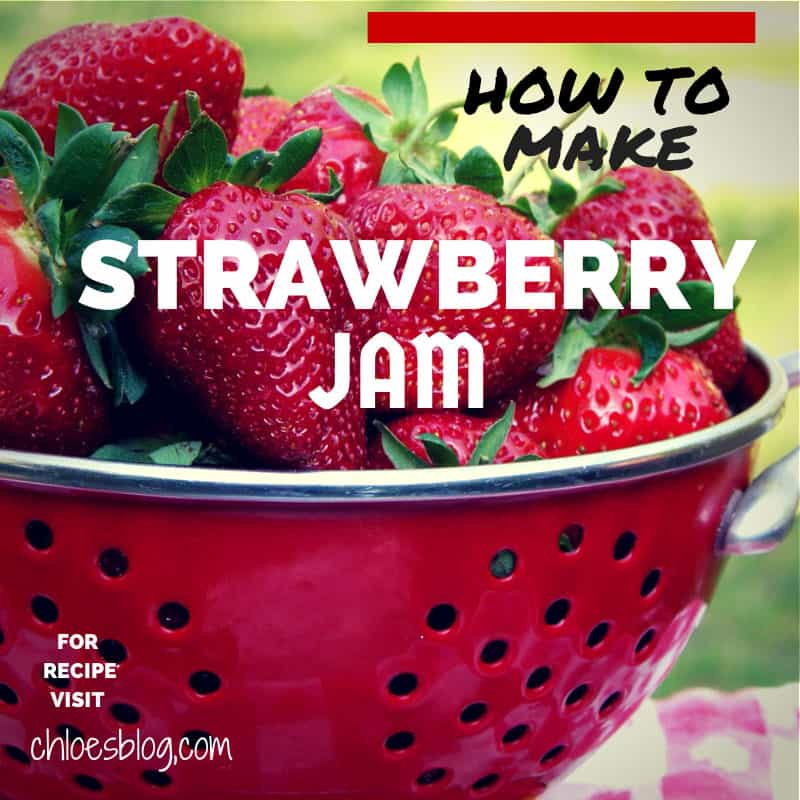 Easy Strawberry jam recipe from innkeeper at Big Mill B+B near Greenville, NC | www.chloesblog.bigmill.com/strawberry-jam-recipe/ #strawberryjam #jamrecipe