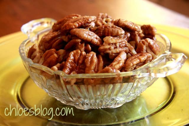 Honey roasted pecan recipe from Big Mill Bed and Breakfast near Greenville, NC